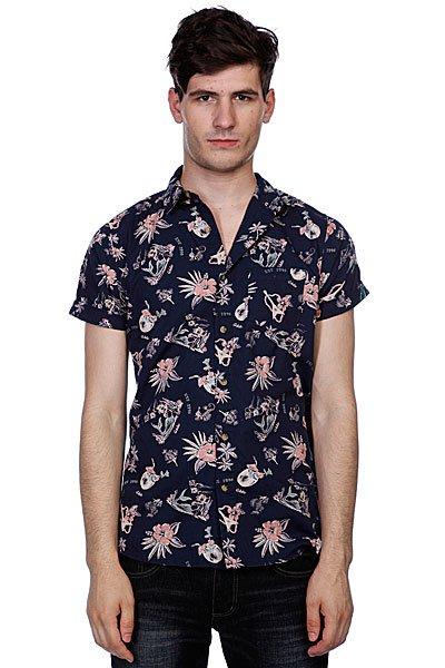 Рубашка Globe Pina Colada Shirt Midnight<br><br>Цвет: синий<br>Тип: Рубашка<br>Возраст: Взрослый<br>Пол: Мужской