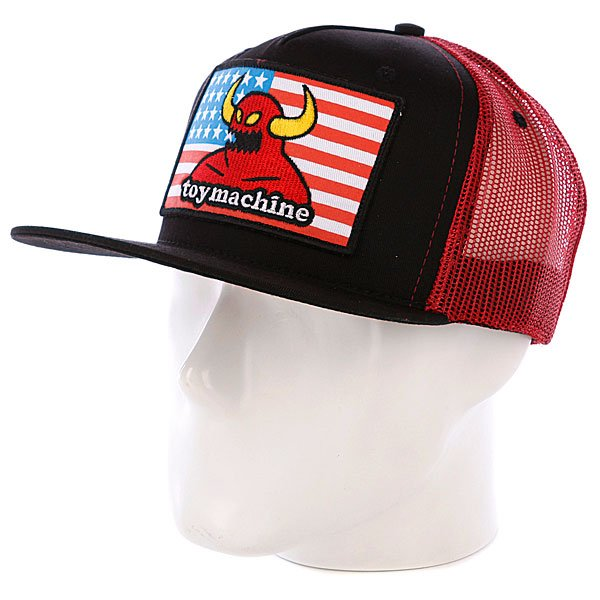 Бейсболка Toy Machine American Monster Mesh Red