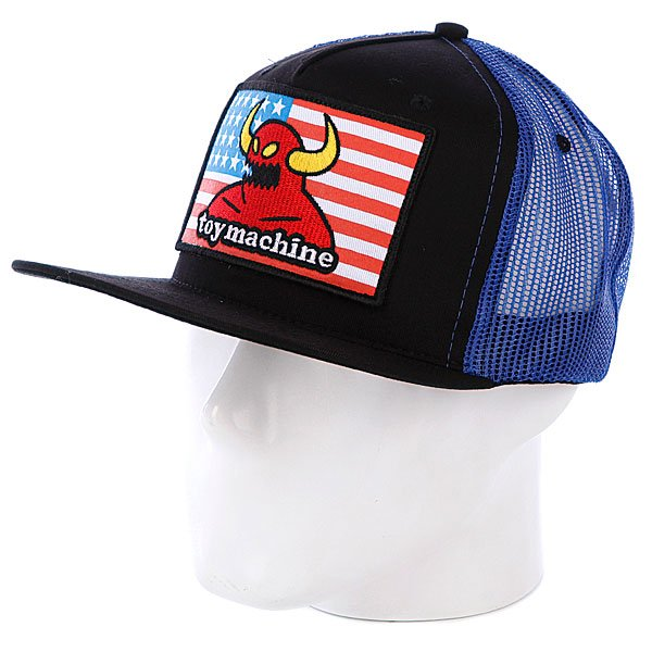 Бейсболка Toy Machine American Monster Mesh Blue