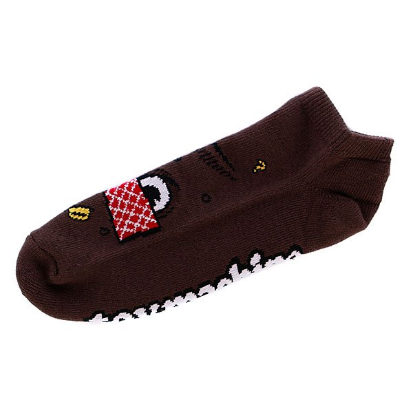 Носки низкие Toy Machine Poo Poo Head Ankle Brown