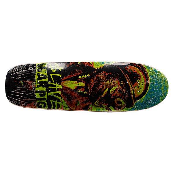 Дека для скейтборда для лонгборда Slave S3 War Pig New Color Green 9.75 (24.8 см) Proskater.ru 2639.000