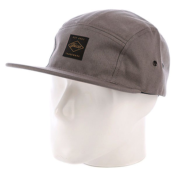Бейсболка пятипанелька Fallen Peak 5 Panel Grey футболка fallen deathproof heat grey