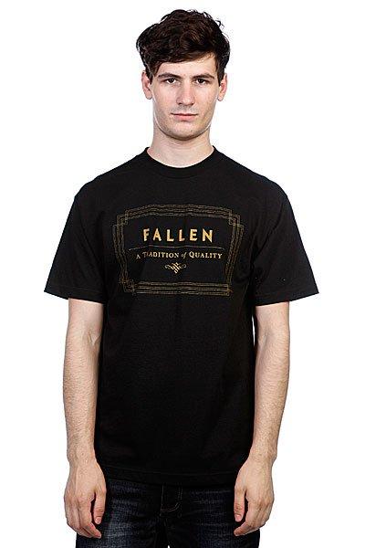 Футболка Fallen Verte Black/Gold<br><br>Цвет: черный<br>Тип: Футболка<br>Возраст: Взрослый<br>Пол: Мужской