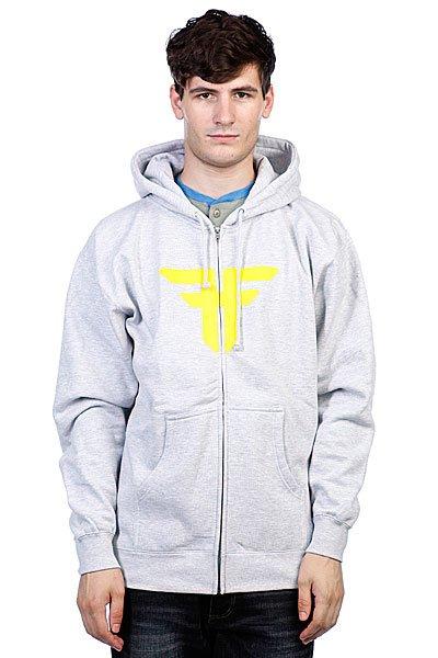 Толстовка Fallen Trademark Hood Heat Grey/Fluro Yellow<br><br>Цвет: серый<br>Тип: Толстовка классическая<br>Возраст: Взрослый<br>Пол: Мужской
