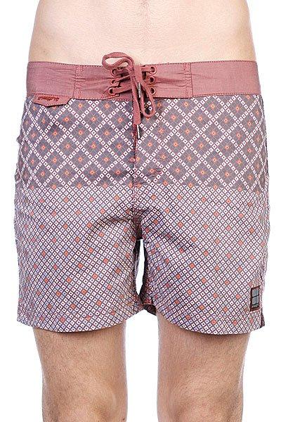 Пляжные мужские шорты Insight Mosaic Bunker Brick<br><br>Цвет: бежевый,бордовый<br>Тип: Шорты пляжные<br>Возраст: Взрослый<br>Пол: Мужской