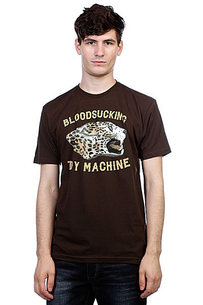 Футболка Toy Machine Leopard Brown футболка toy machine moustache sand