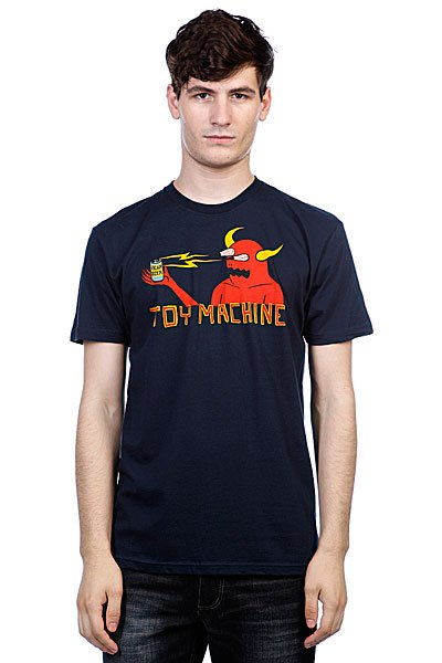 Футболка Toy Machine Monster Shock Navy футболка toy machine blood river navy heather