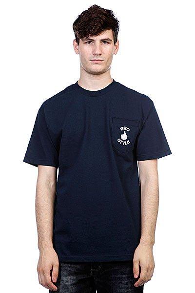 Футболка Bro Style Pocket Navy<br><br>Цвет: синий<br>Тип: Футболка<br>Возраст: Взрослый<br>Пол: Мужской