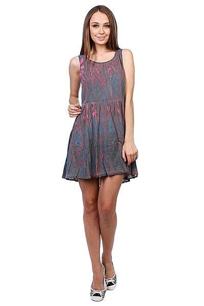 Платье женское Insight Zoowho Dress OnyxЛегкое платье для летнего сезона.Характеристики:Свободный крой.Без рукава.Вырез на спинке.<br><br>Цвет: розовый,серый<br>Тип: Платье<br>Возраст: Взрослый<br>Пол: Женский