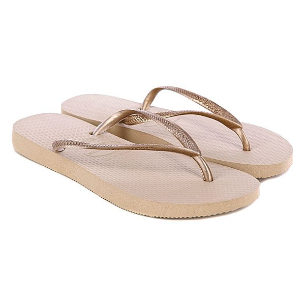 Шлепанцы женские Havaianas Slim Sand Grey/Light Golden