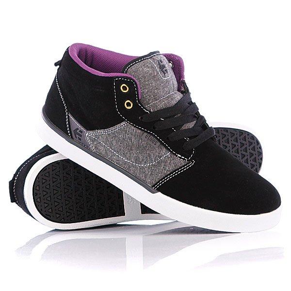 Кеды кроссовки высокие Etnies Jefferson Mid Black/Grey/White кеды кроссовки высокие dc council mid tx stone camo