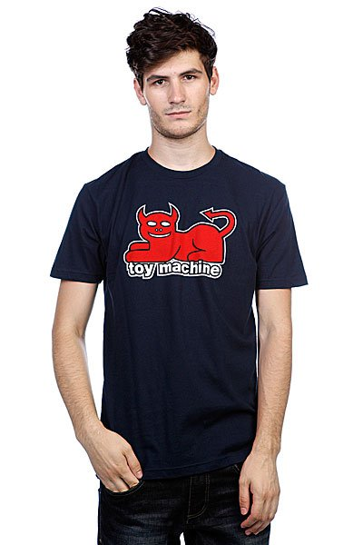 Футболка Toy Machine Devil Cat Navy футболка toy machine blood river navy heather