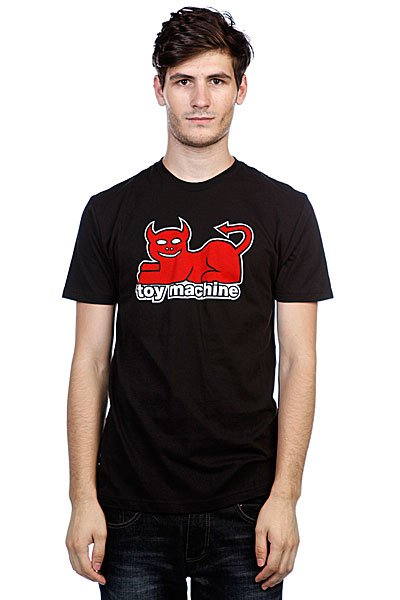 Футболка Toy Machine Devil Cat Black футболка toy machine blood river navy heather