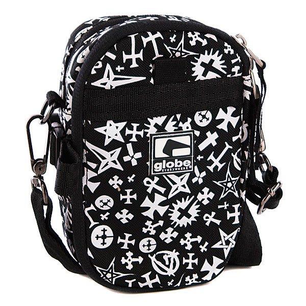 Сумка Globe Atheist Gadget Pack BlackТехнические характеристики: Верх из полиэстера. Внутренняя текстильная подкладка.  Застежка – двусторонняя молния. Карабин для крепления сумки. Съемная регулируемая широкая ручка для ношения сумки через плечо.Форм-фактор - сумка-чехол (Messenger Bag).<br><br>Цвет: черный<br>Тип: Сумка<br>Возраст: Взрослый<br>Пол: Мужской