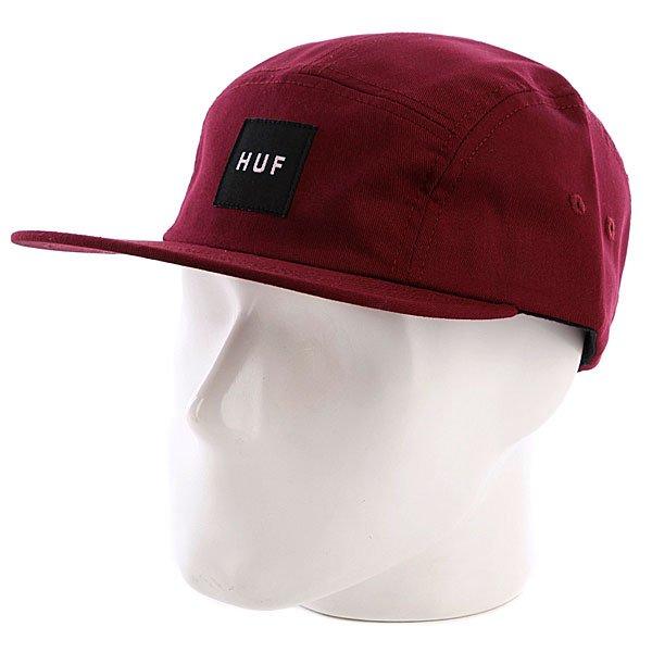 Бейсболка пятипанелька Huf Core Box Logo Volley Maroon<br><br>Цвет: бордовый<br>Тип: Бейсболка пятипанелька<br>Возраст: Взрослый
