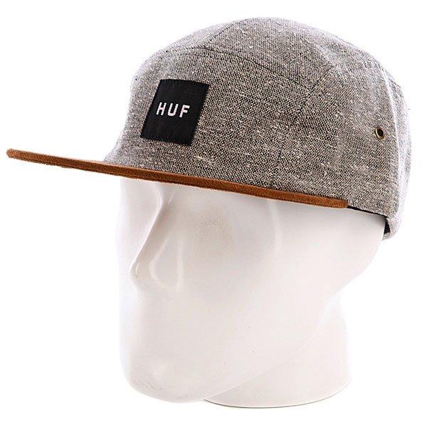 Бейсболка пятипанелька Huf Tweed Volley Gray<br><br>Цвет: серый,коричневый<br>Тип: Бейсболка пятипанелька<br>Возраст: Взрослый<br>Пол: Мужской