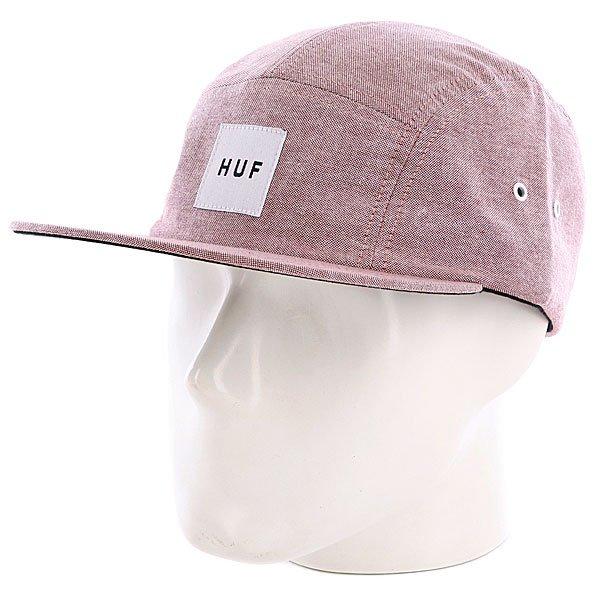 Бейсболка пятипанелька Huf Oxford Volley Wine<br><br>Цвет: розовый,бежевый<br>Тип: Бейсболка пятипанелька<br>Возраст: Взрослый