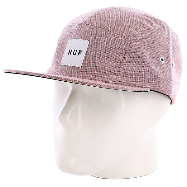 Бейсболка пятипанелька Huf Oxford Volley Wine<br><br>Цвет: розовый,бежевый<br>Тип: Бейсболка пятипанелька<br>Возраст: Взрослый<br>Пол: Мужской