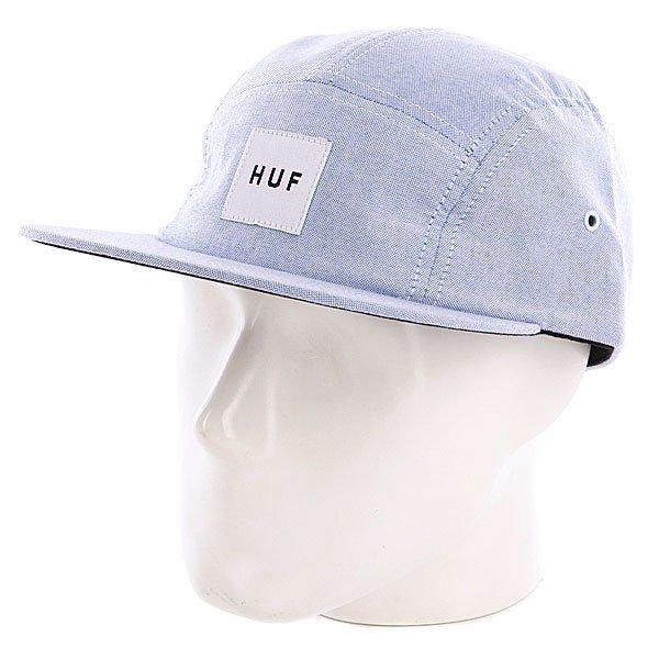 Бейсболка пятипанелька Huf Oxford Volley Blue<br><br>Цвет: голубой<br>Тип: Бейсболка пятипанелька<br>Возраст: Взрослый<br>Пол: Мужской