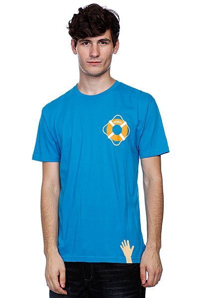 Футболка Enjoi Lifesaver Premium Turquoise<br><br>Цвет: голубой<br>Тип: Футболка<br>Возраст: Взрослый<br>Пол: Мужской