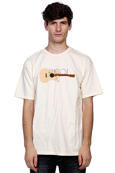 Футболка Enjoi Guitarded Cream<br><br>Цвет: бежевый<br>Тип: Футболка<br>Возраст: Взрослый<br>Пол: Мужской