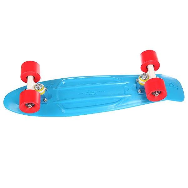 """Скейт мини круизер Penny Complete Blue 22 (55.9 см)Эта модель сочетает в себе все - свободу, веселье и максимальное качествоДлина деки: 56 смПодвеска:Custom 3""""Колеса:59мм/78АПодшипники:ABEC 7.<br><br>Тип: Скейт мини круизер"""