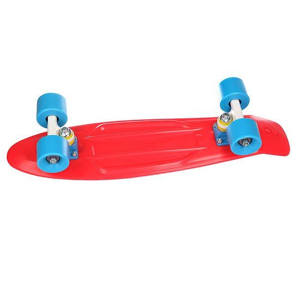 """Скейт мини круизер Penny Complete Red 22 (55.9 см)Эта модель сочетает в себе все - свободу, веселье и максимальное качествоДлина деки: 56 смПодвеска:Custom 3""""Колеса:59мм/78АПодшипники:ABEC 7.<br><br>Цвет: красный,серый,белый<br>Тип: Скейт мини круизер"""