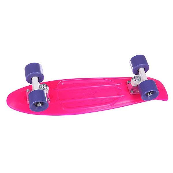 """Скейт мини круизер Penny Complete Pink 22 (55.9 см)Эта модель сочетает в себе все - свободу, веселье и максимальное качествоДлина деки: 56 смПодвеска:Custom 3""""Колеса:59мм/78АПодшипники:ABEC 7.<br><br>Тип: Скейт мини круизер"""