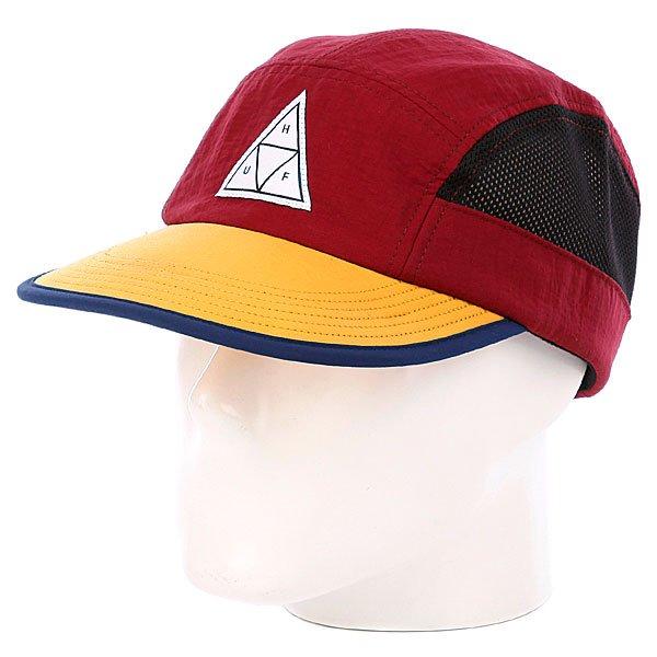 Бейсболка пятипанелька Huf Scout Volley Wine<br><br>Цвет: красный,желтый<br>Тип: Бейсболка пятипанелька<br>Возраст: Взрослый