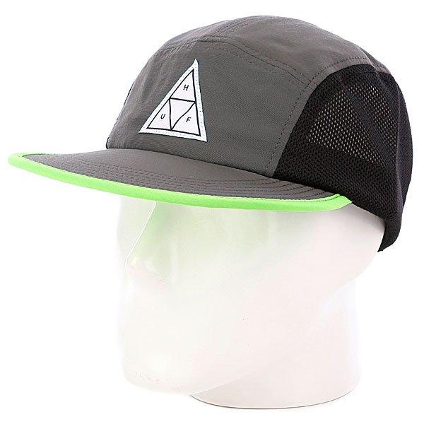 Бейсболка пятипанелька Huf Scout Volley Gray<br><br>Цвет: серый<br>Тип: Бейсболка пятипанелька<br>Возраст: Взрослый