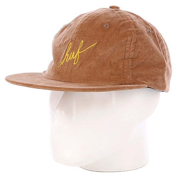Бейсболка Huf Formless Scripts Panel Camel scripts