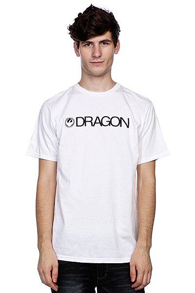 Футболка Dragon Trademark White<br><br>Цвет: белый<br>Тип: Футболка<br>Возраст: Взрослый<br>Пол: Мужской