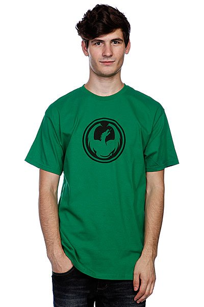Футболка Dragon Icon Tee Kelly Green<br><br>Цвет: зеленый<br>Тип: Футболка<br>Возраст: Взрослый<br>Пол: Мужской