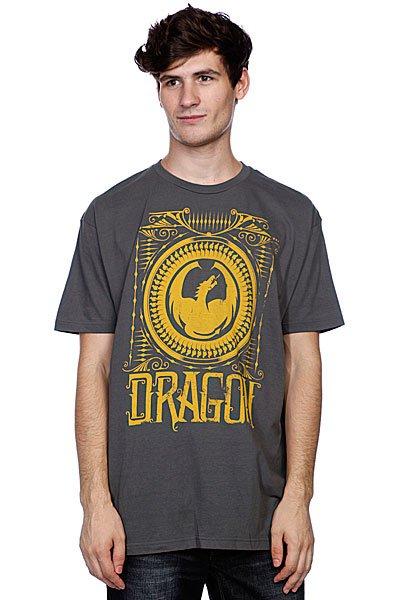 Футболка Dragon Jefferson Charcoal<br><br>Цвет: серый<br>Тип: Футболка<br>Возраст: Взрослый<br>Пол: Мужской