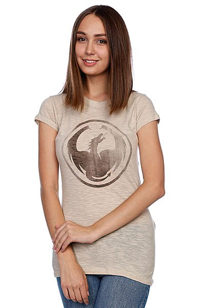 Футболка женская Dragon Icon Burnout Tee S11 Banana Cream