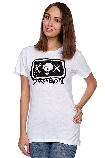 Футболка женская Dragon Sketchy Girls Tee S11 White