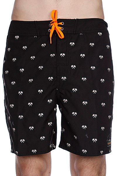 Пляжные мужские шорты Globe The Palms Boardshort Blk<br><br>Цвет: черный<br>Тип: Шорты пляжные<br>Возраст: Взрослый<br>Пол: Мужской