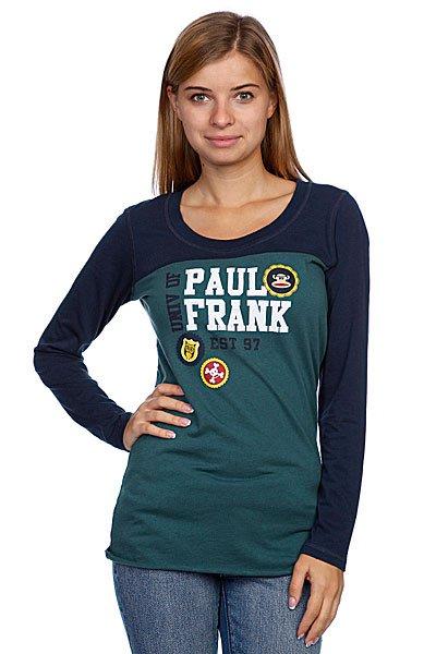 Лонгслив женский Paul Frank Enzyme Washed Light Jersey Mallard Green Proskater.ru 1828.000