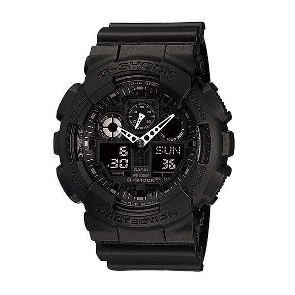 Часы Casio G-Shock GA-100-1A1Ударопрочные многофункциональные часы со светодиодной подсветкой и функцией автоматической подсветкиТочность хода: не хуже +/-15 секунд в месяц.Срок службы батареи 2 года.Элемент питания  CR1220.Электрическая светодиодная подсветка с функцией автоматической подсветки при наклоне часов к лицу.Точное измерение прошедшего времени  одним нажатием кнопки. Максимальное время измерения 100 часов.Таймер с функцией автоповтора. Максимальное время измерения 24 часа.5 ежедневных будильников.Функция повтора сигнала будильника (Snooze).Автоматический календарь.Особая ударопрочная конструкция защищает от ударов и вибрации.Магнитоустойчивость по 1 разряду Японского промышленного стандарта (Соответствует стандарту MOC-ISO 764) обеспечивает устойчивость к воздействию магнитных полей.Минеральное стекло устойчивое к возникновению царапин.Ремешок из полимерного материала.Водозащита до 20 АТМ.Размеры корпуса 55 мм (по оси заводной головки) х 51,2 мм (по вертикали)  х 16,9 мм (толщина) / 70 грамм.<br><br>Тип: Кварцевые часы<br>Возраст: Взрослый<br>Пол: Мужской
