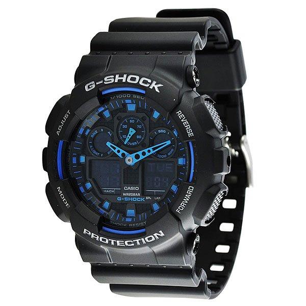 Часы Casio G-Shock GA-100-1A2Ударопрочные многофункциональные часы со светодиодной подсветкой и функцией автоматической подсветкиТочность хода: не хуже +/-15 секунд в месяц.            Срок службы батареи 2 года.Элемент питания  CR1220.Электрическая светодиодная подсветка с функцией автоматической подсветки при наклоне часов к лицу.Точное измерение прошедшего времени  одним нажатием кнопки. Максимальное время измерения 100 часов.Таймер с функцией автоповтора. Максимальное время измерения 24 часа.5 ежедневных будильников.Функция повтора сигнала будильника (Snooze).Автоматический календарь.Особая ударопрочная конструкция защищает от ударов и вибрации.Магнитоустойчивость по 1 разряду Японского промышленного стандарта (Соответствует стандарту MOC-ISO 764) обеспечивает устойчивость к воздействию магнитных полей.Минеральное стекло устойчивое к возникновению царапин.Ремешок из полимерного материала.Водозащита до 20 АТМ.Размеры корпуса 55 мм (по оси заводной головки) х 51,2 мм (по вертикали)  х 16,9 мм (толщина) / 70 грамм.Механизм: Кварцевые + ЭлектронныеКорпус: ПластикСтекло: МинеральноеБраслет: РезиновыйВодозащищенность: 200 метровПол: Мужские<br><br>Тип: Кварцевые часы<br>Возраст: Взрослый<br>Пол: Мужской