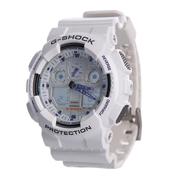 Часы Casio G-Shock GA-100A-7A casio g shock ga 110tp 7a