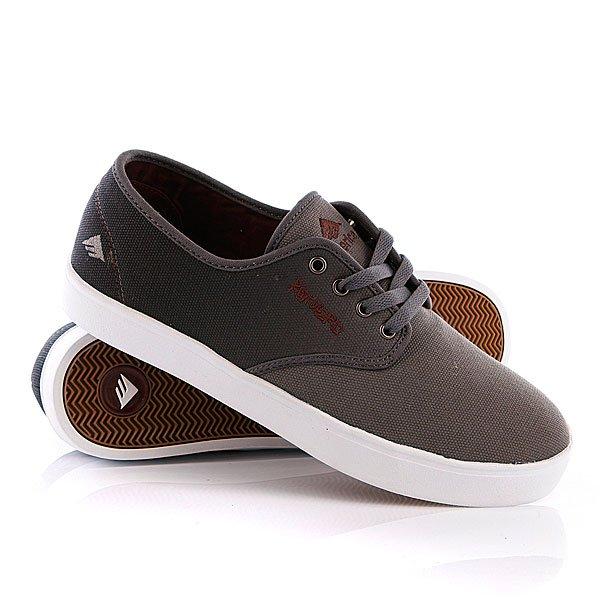 Кеды кроссовки низкие Emerica Laced Black/Red/Grey