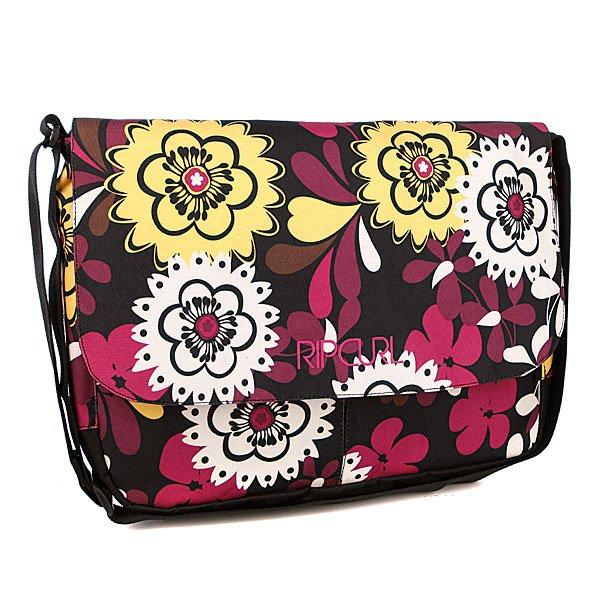 Сумка женская Rip Curl Vintage Computer Bag Solid BlackТехнические характеристики: Верх из полиэстера. Внутренняя подкладка из тафты. Массивное внутреннее отделение на молнии для ноутбука. Застежка – двусторонняя молния.  Внутренние карманы для мелочей. Широкий регулируемый ремешок для ношения сумки на плече. Форм-фактор – сумка-портфель.<br><br>Цвет: белый,черный,фиолетовый,желтый<br>Тип: Сумка через плечо<br>Возраст: Взрослый<br>Пол: Женский