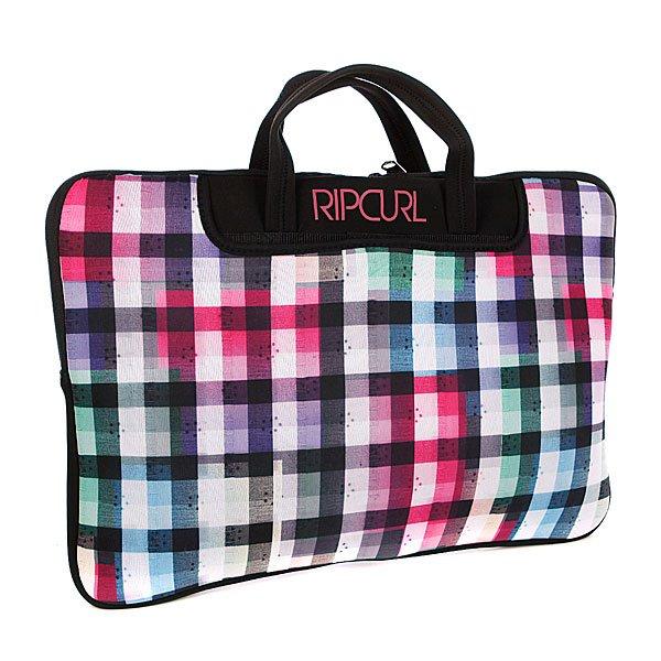 Сумка для ноутбука женская Rip Curl Check Laptop Sleeve Solid BlackЧехол-сумка для ноутбука. Весёлая расцветка, удобная ручка.Характеристики:Внутреннее мягкое отделение на молнии.Две ручки для переноски.<br><br>Цвет: розовый,белый,черный<br>Тип: Чехол для ноутбука<br>Возраст: Взрослый<br>Пол: Женский