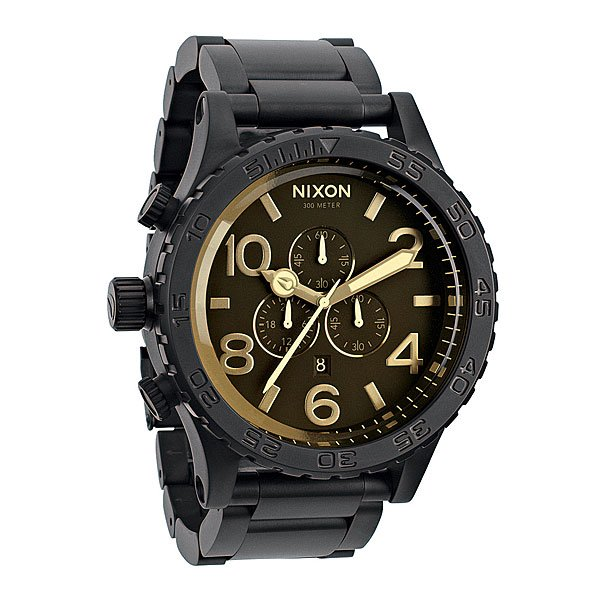 Часы Nixon 51-30 Chrono Matte Black/Orange Tint