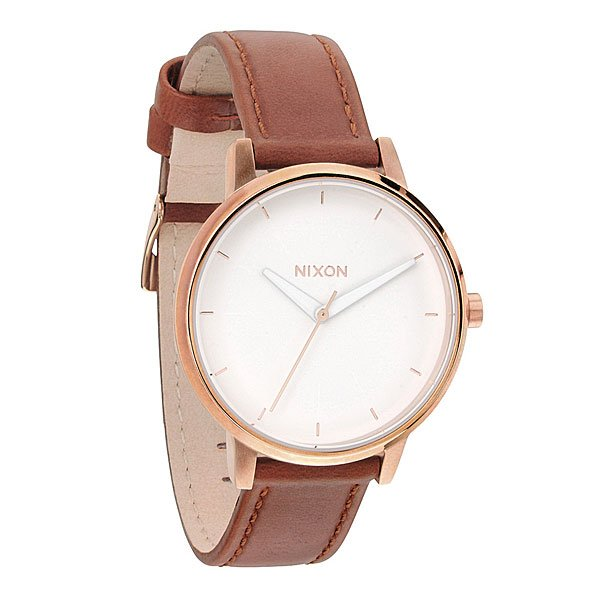 Часы женские Nixon Kensington Leather Rose Gold/White nixon часы nixon a099 710 коллекция kensington
