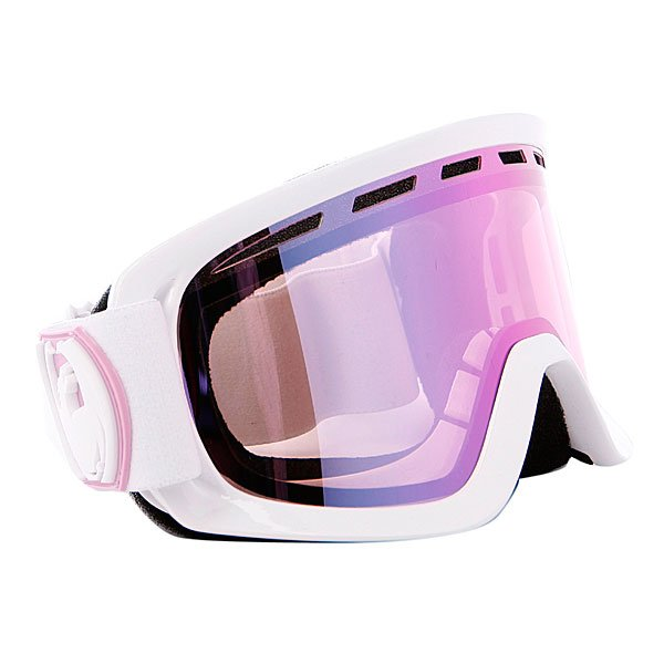 Маска Dragon D2 Frame White Lens Pink Ionized + Ionized