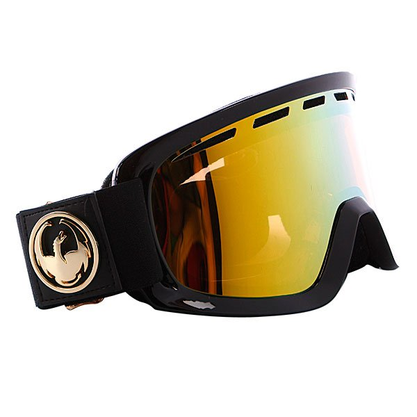 ����� Dragon D2 Frame Jet Lens Gold Ionized + Amber