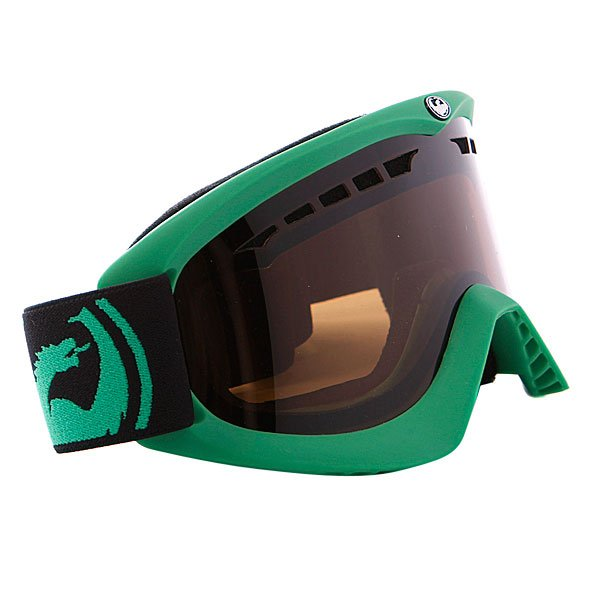 ����� Dragon DX Frame Pop Green Lens Jet + Amber