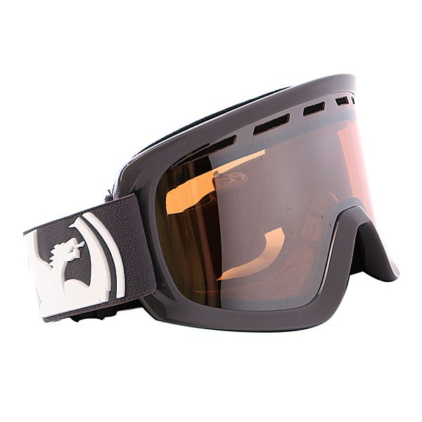 ����� Dragon D1 Frame Solid Grey Lens Ionized + Amber